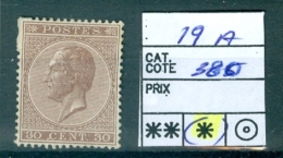 19 A ( X ) - 1865-1866 Profil Gauche
