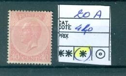 20 A ( X ) - 1865-1866 Profil Gauche