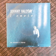 45 TOURS  JOHNNY HALLYDAY  L ENVIE  SACEM  1988 - Rock