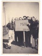 Photo BELGIQUE  - Camp Ecole  -scout -scoutisme - Vers 1943 - Ville MAFFE Pancarte