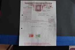 Fac-16 - Bis / Verviers, Imprimerie Lithographie Reliure - G. Leens Verviers  / 1936 - Imprimerie & Papeterie