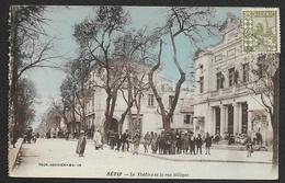SETIF Rare Le Theatre Et La Rue Sillègue (Combier) Algérie - Sétif