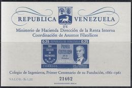 VENEZUELA 1961 HB-4 NUEVO - Venezuela