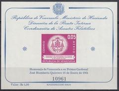 VENEZUELA 1962 HB-5 NUEVO - Venezuela