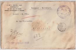 Occupation, 1917, Lettre Valeur  , #7081 - Guerre 14-18
