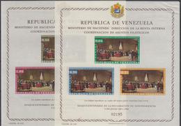 VENEZUELA 1962 HB-6/7 NUEVO (HB-6 LIJERO DEFECTO SUPE.DERECHA - Venezuela