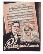 Film Des Studios PARAMOUNT    Parlez Moi D'amour      Cinéma - Programs