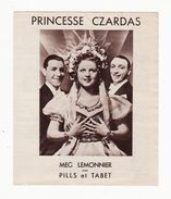 Film    Princesse Czardas      Cinéma - Programs
