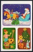 9625  - Abziehbild Schiebebild - Weihnachten Weihnachtsmann - Planet Verlag DDR 1986 - Santa Claus