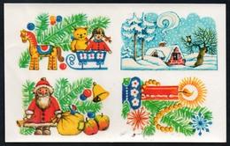 9626  - Abziehbild Schiebebild - Weihnachten Weihnachtsmann - Planet Verlag DDR 1979 - Santa Claus