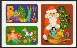 9627  - Abziehbild Schiebebild - Weihnachten Weihnachtsmann - Planet Verlag DDR 1986 - Santa Claus