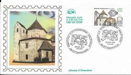 Env Fdc 17/6/2000 Ottmarsheim, N°3336, Abbatiale D'ottmarsheim - FDC