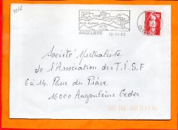 """AUDE, Argeliers, Flamme SCOTEM N° 9586, """"vins Fruits Légumes"""" Dateur Inversé - Storia Postale"""