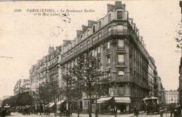 (7) CPA  Paris  18eme Boulevard Barbes Et Rue Labat (bon Etat) - District 18