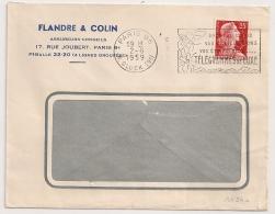 PARIS 96 R. GLUCK (9°) POUR VOS VOEUX.....TELEGRAMMES DE LUXE. 1959 - Oblitérations Mécaniques (flammes)