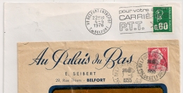 BELFORT ENTREPOT, Cachet 1955 Et FLAMME 1976 - Postmark Collection (Covers)