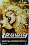 FRANCE - Hedwig - Singer Movie , Orange Mobicarte 70 ,used - Film