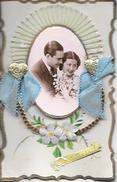 Carte En Relief Différents Matériaux; Papier Tissus Photo  Peinte Main Pour Fete Ste Catherine Ou Catherinette - Phantasie