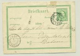 Nederlands Indië - 1887 - 5 Cent Willem III Van KR SOEKABOEMI Naar Batavia - Nederlands-Indië