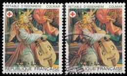 France 1985. ~ YT 2392 Par 2 - Croix-Rouge. Retable D'Issenheim - Oblitérés
