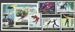 """Zentralafrika (Rep.) Bl.11,417-21 """"XII. Olympische Spiele, Innsbruck ´76""""  Gestempelt Mi.:5,70 €"""