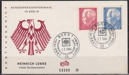 BRD FDC 1964 Nr.429/30 Bundespräsident Heinrich Lübke ( D 4369 ) - BRD