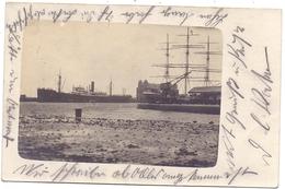 B 2000 ANTWERPEN, Hafen / Haven, Photo-AK, 1916, Deutsche Feldpost - Antwerpen