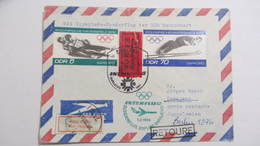 "Eil-Luftpost-Brief  5,70 Pf Winterolymp.1972 Mit SoSt.""Sonderflug Erfurt-Sarajevo"" Portoger. Ins Soz.Ausland Knr: 1730 - [6] République Démocratique"