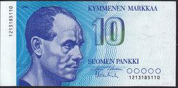 Finland 10 Markka 1986 P113 (sign. Holkeri & Vanhala) XF/AUNC - Finland