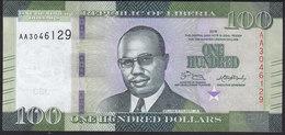 Liberia 100 Dollar 2016 Pnew UNC - Liberia