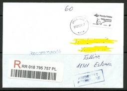 POLEN Poland Polska 2017 Registered Letter To Estonia - 1944-.... Republic
