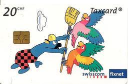 3-CARTES-PUCE-SUISSE-Série Complete-5-10-20CHF-LES PERROQUETS De GLOBI01/2008--TBE-RARE - Schweiz