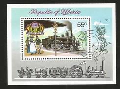 J)1973 LIBERIA, CLASSIC AUTOMOBILES, SOUVENIR SHEET CANCELLED MNH - Liberia