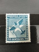 RARE 70 CENTAVOS CHILE 1930 PLANE CORREO AEREO UNUSED/MINT/NEUF STAMP TIMBRE - Chile