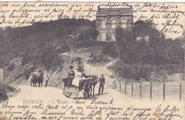 Fairon - L'Ecole (animée, Attelage, 1907) - Hamoir