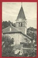 PRG-25 Bursins, L'Eglise St.-Martin.  Cachet 1916 - VD Vaud