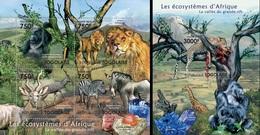 Togo 2011, Animals Of Africa, Riff Valley, Minerals, Lion, Zebra, Gorilla, 4val In BF +BF