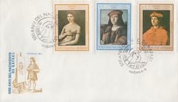 Enveloppe  FDC   CUBA    Oeuvres  De  RAPHAEL   1983 - FDC