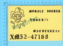 QSL- CB- Mobile Jocker  - Montreal Quebec- 2 Scans - CB