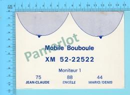 QSL- CB- Mobiler Bouboule, Seins - Montreal Quebec- 2 Scans - CB