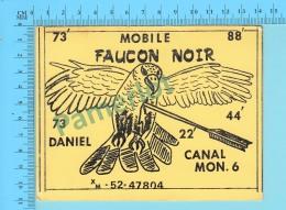 QSL- CB- Mobile Faucon Noir, Oiseaux  - Montreal Quebec- 2 Scans - CB