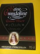 3218 - Suisse Vaud Pinot- Gamay D'Ollon Reine Gwendoline - Etiquettes