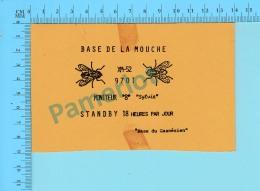 QSL- CB- Base De La Mouche, Base Du Gaspésien  - St-Jerome Quebec- 2 Scans - CB