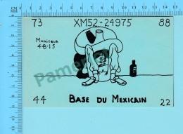 QSL- CB- Base Du Mexicain  - Montreal Quebec- 2 Scans - CB