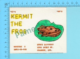QSL- CB-  Kermit The Frog, Grenouille - Granby Quebec- 2 Scans - CB