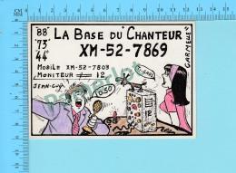 QSL- CB- Base Du Chanteur, Archie Veronica- Montreal Quebec- 2 Scans - CB