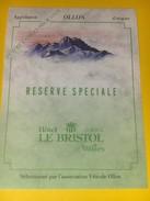 3220 - Suisse Vaud Ollon 4 étoiles Pour Vous Réserve Spéciale Hôtel Bristol Villars - Etiquettes