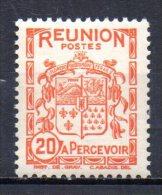 3/ Reunion Taxe N° 19  Neuf XX MNH Cote : 0,60 €    (Album 11) - Timbres-taxe
