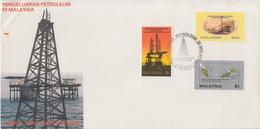 Enveloppe  FDC  1er  Jour   MALAYSIA     Exploitation  Pétroliére  En  Malaysia    1985 - Malaysia (1964-...)