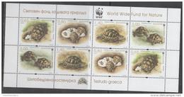 BULGARIA, 2016 ,MNH, WWF, TURTLES, SHEETLET OF 2 SETS - Sin Clasificación
